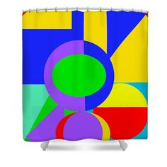 Color and Shape Series #1 Shower Curtain by Regina Geoghan