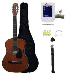 """Crescent MG38-CF 38"""" Acoustic Guitar Starter Package, Coffee (Includes Crescent Digital E-Tuner) - http://www.learntab.com/guitar-deals/crescent-mg38-cf-38-acoustic-guitar-starter-package-coffee-includes-crescent-digital-e-tuner/"""