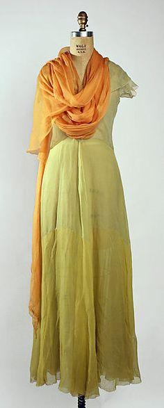 Evening ensemble Designer: Madeleine Vionnet (French, Chilleurs-aux-Bois 1876–1975 Paris) Date: early 1930s Culture: French Medium: silk