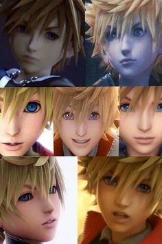 Sora, Roxas, & Ven<< I mean look at them!!! They look exactly the same!!! (except Sora at least you can say who is Sora, but Roxas and Ven!!!)