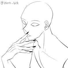 Drawing Base, Manga Drawing, Figure Drawing, Drawing Sketches, Drawings, Anime Poses Reference, Anatomy Reference, Hand Reference, Base Anime