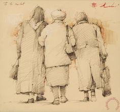 Andre Kohn To The Market print for sale. Shop for Andre Kohn To The Market painting and frame at discount price, ships in 24 hours. Life Drawing, Figure Drawing, Drawing Sketches, Pencil Drawings, Painting & Drawing, Art Drawings, Painting People, Drawing People, Eugenia Loli