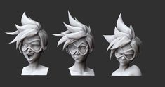 Tracer facial expression study by DimensionalDrift