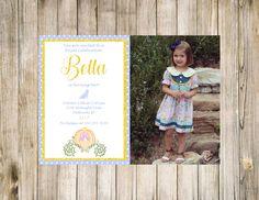 Princess Cinderella Birthday Invitation invite Party Photo Printable Digital Chalkboard Gold Glitter Loves Glass Slipper Pumpkin Carriage by clsprints on Etsy
