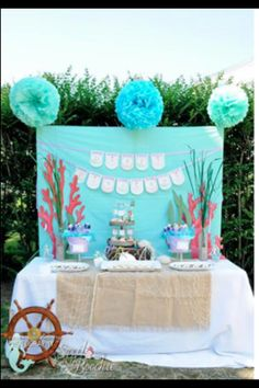 Sea theme Treat table and banner