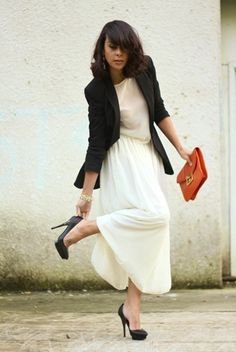 black blazer + crisp maxi #ithinkican