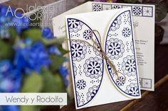 Invitación de boda mexicana con detalles de talavera / mexican wedding invitation
