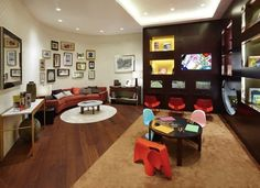 decked out family lounges that go beyond the cramped changing station amazing playroom office shared space