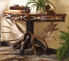 Antler Console Table by Lonestar Western Decor - triple moon <3