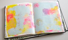 How to create backgrounds and texture in your journal. Art Journaling with Dawn Devries Sokol - Creativebug