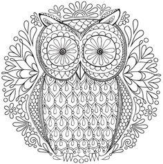 Free Owl Nature Mandala Coloring Page
