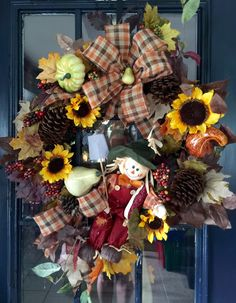A personal favorite from my Etsy shop https://www.etsy.com/listing/247727251/scarecrow-fall-wreath-fall-wreath-autumn