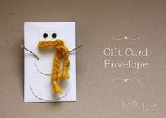 a Christmas gift-card-wrapping idea
