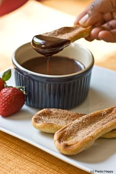 Grilled churros with nutella sauce - props to @greta arnold for showing this one to me!