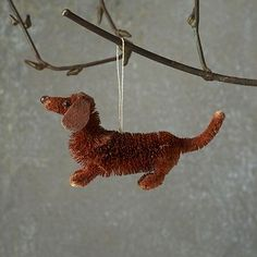 Shop bottle brush ornament - dachshund from west elm. Find a wide selection of furniture and decor options that will suit your tastes, including a variety of bottle brush ornament - dachshund. Pipe Cleaner Projects, Pipe Cleaner Art, Pipe Cleaner Animals, Pipe Cleaners, Fun Crafts, Crafts For Kids, Chenille Crafts, Dachshund Art, Daschund