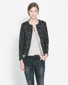 QUILTED JACQUARD JACKET - Blazers - Woman - New collection | ZARA Czech Republic