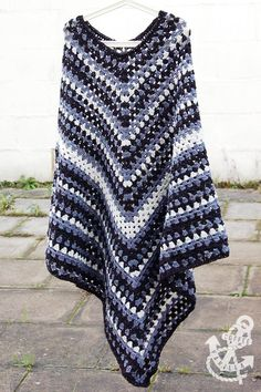 Men's Classic Poncho By Margot Dolewska Dyer - Free Crochet Pattern - (coffeeandvanilla)
