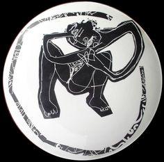 Prato serigrafado de Aberto Péssimo Darth Vader, Etchings, Portion Plate