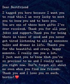 Happy Birthday Best Friend Quotes, Best Friend Quotes Meaningful, Birthday Quotes For Best Friend, Meaningful Birthday Wishes, Friends Day Quotes, Bff Quotes, Funny Quotes, Birthday Captions, Dear Best Friend