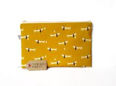 Dachshund Sausage Dog Makeup Bag Pencil Case notions bag