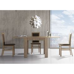 Modern folding dining table and 3 chairs – set Gladis 1 – Table Types Dining Table Cloth, Dining Table With Bench, Square Dining Tables, Extendable Dining Table, Classic Dining Room Furniture, Furniture Decor, Dining Room Sets, Dining Room Table, Glass Dining Table Designs