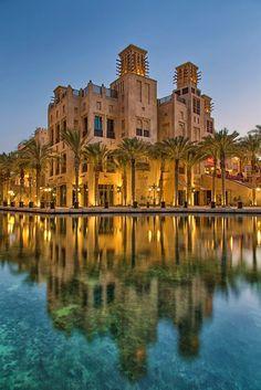 WONDERFUL shot of the Dubai Souk Al Bahar at night!!!