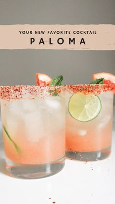 Low Calorie Cocktails, Healthy Cocktails, Fun Cocktails, Cocktail Drinks, Cocktail Recipes, Tequila Mixed Drinks, Tequila Tasting, Paloma Cocktail, Cocktail Night