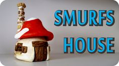 DIY Smurfs Mushroom House Jar. In this video tutorial I show you how we made a medium size smurfs mushroom house using a pickles jar, tin foil, hot glue, whi...