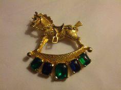Vintage Castlecliff Gold blue and green by VansVintageTreasures, $44.00