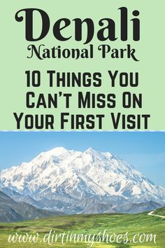 Denali National Park is one of the most beautiful places in Alaska, and should be on everybody's bucket lists! Planning an itinerary for your family vacation can be a challenge though, that is why I'm sharing this list of 10 things to do in Denali. Alaskan Vacations, Family Vacations, Denali Alaska, Anchorage To Denali, Alaska National Parks, Alaska Summer, Alaska Adventures, Visit Alaska, Fairbanks Alaska