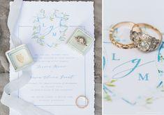 monogram wedding invitations - blog.blushpaperco.com Monogram Wedding Invitations, Dusty Blue Weddings, Weddingideas, Wedding Flowers, I Am Awesome, Wedding Planning, Wedding Decorations, Wedding Inspiration, Place Card Holders