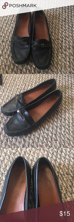 Talbots loafers Black leather EUC look new Talbots Shoes Flats & Loafers