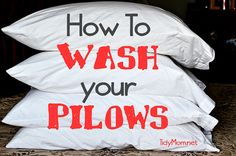 How to Wash Pillows | TidyMom