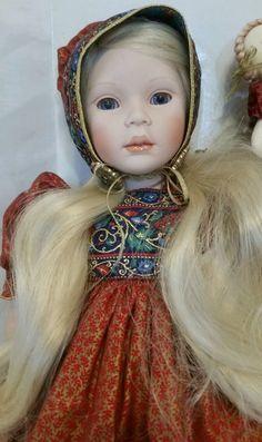 "Lara Porcelain Doll Pauline Bjonness Jacobsen 19"" w/Nastasha Doll Russia Bonnet #Dolls"