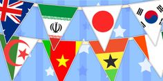 Football/World Cup- Country Flag Bunting