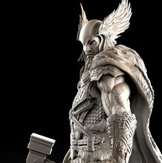 [image] Title: - Thor - Name: David Molina Country: Colombia Software: ZBrush Maya Submitted: February 2016 A Private Commission i did last year. The idea on the concept is that the Helmet and Hammer were th… Viking Tattoo Sleeve, Norse Tattoo, Viking Tattoos, Character Model Sheet, Character Modeling, Celtic Warriors, Viking Art, Thors Hammer, Cg Art