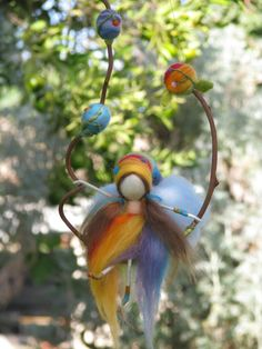 Needle felted Rainbow fairy waldorf inspired by Made4uByMagic