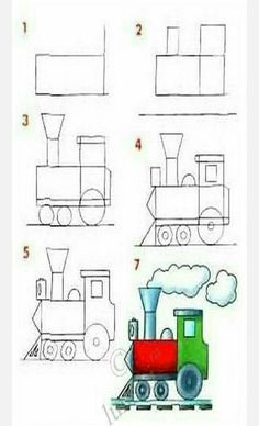 : learn to draw vehicles Art Drawings For Kids, Doodle Drawings, Easy Drawings, Doodle Art, Art For Kids, Basic Drawing For Kids, Doodle Kids, Drawing Lessons, Drawing Techniques