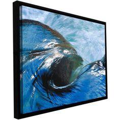 ArtWall Dean Uhlinger Kern River Flow Floater Framed Gallery-Wrapped Canvas, Size: 18 x 24, Green