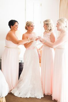 Blush bridesmaids | Photography: Candice Benjamin Photography - candicebenjamin.com  Read More: http://www.stylemepretty.com/california-weddings/2015/04/22/romantic-coachella-valley-desert-resort-wedding/