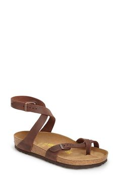 Free shipping and returns on Birkenstock 'Yara' Sandal (Women) at Nordstrom.com. Crisscrossing, wraparound leather straps lend a touch of feminine grace to a classic Birkenstock sandal, while the brand's legendary, contoured cork footbed conforms to the shape of the foot—providing unparalleled arch support and a custom fit.Made in Germany since 1774, Birkenstock designs rely on simple foundational principles—cork, leather, a buckle or two—and a meticulous commitment to quality, pr...