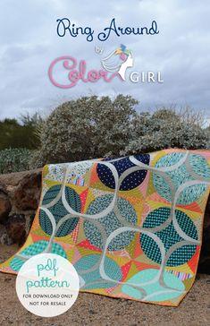 Ring Around modern curved pieced quilt pattern