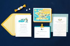 visit martha's vineyard wedding invitation by lab partners for hello!luck...