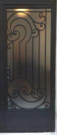 Création porte grille en fer forgé sur mesure. Modèle Eva ...