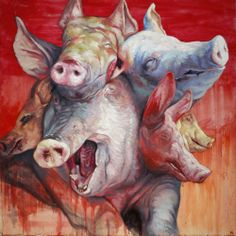 da espiritualidade na arte: espírito de porco acrílica e óleo sobre tela 80 x 80cm 2010