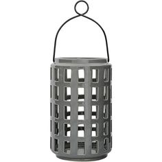 Bloomingville Lantern with Handle - Tall (58 CAD) ❤ liked on Polyvore featuring home, outdoors, outdoor lighting, fillers, grey, garden lanterns, ceramic lantern, bloomingville and outdoor garden lights