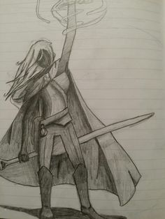 Wizardry. This was one of my characters in D&D, a wizard named Gwenhwyvar