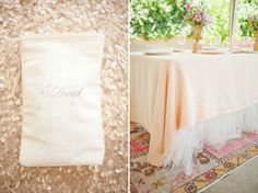 Tulle table skirt but use bright colors