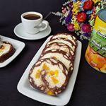 Rulada de biscuiti cu mascarpone si piersici retetesunfood sunfood gatesccusunfood instacake instagood cakeoftheday cake cakeinstagram cakeporn sunfoodconserve