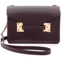 Sophie Hulme Nano Envelope Bag (€305) ❤ liked on Polyvore featuring bags, handbags, shoulder bags, oxblood, purple leather purse, purple handbags, colorful purses, purple purse and leather flap handbags